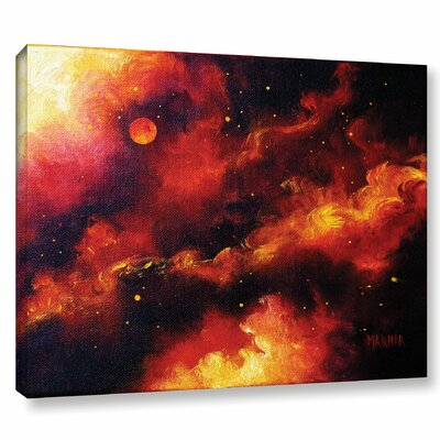 Fire Storm Painting Print on Wrapped Canvas