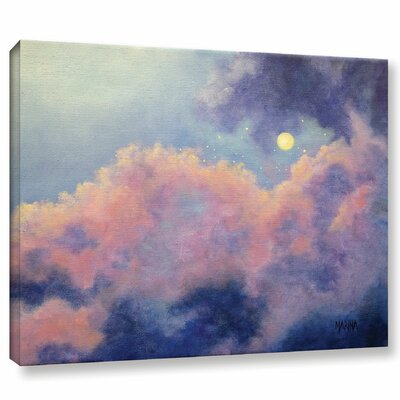 Angels Among the Clouds Painting Print on Wrapped Canvas Size: 14