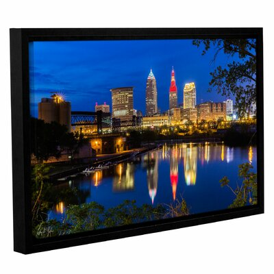 Cleveland River Reflection Framed Photographic Print Size: 12