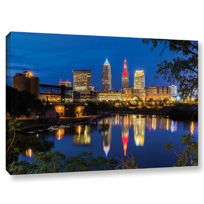 Cleveland River Reflection Photographic Print on Wrapped Canvas Size: 12