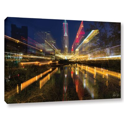 Cleveland Time Warp Graphic Art on Wrapped Canvas