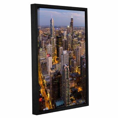 Chicago Skyline at Dusk Vertical Framed Photographic Print