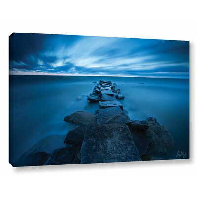 'Blue Skies over Lake Erie' Print on Wrapped Canvas  Size: 12