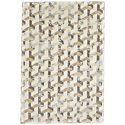 Medford Cream/Brown Area Rug Rug Size: 5 x 8