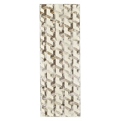 Medford Cream/Brown Area Rug Rug Size: Runner 21 x 71