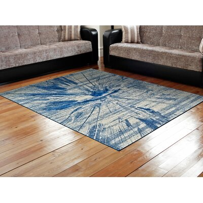 Peasedown St John Cobalt Blue Area Rug Rug Size: Rectangle 22 x 4