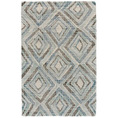 Wells Hand-Tufted Blue Area Rug Rug Size: 96 x 136