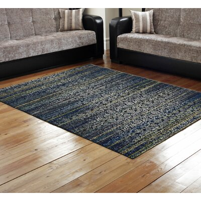 Peasedown St John Midnight Blue Area Rug Rug Size: Rectangle 18 x 210