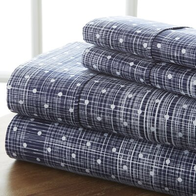 Severn Bridge Sheet Set Color: Navy, Size: California King