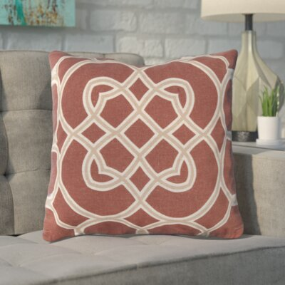 Kupfer Throw Pillow Size: 18 H x 18 W x 4 D, Color: Red Clay / Camel / Parchment, Filler: Polyester