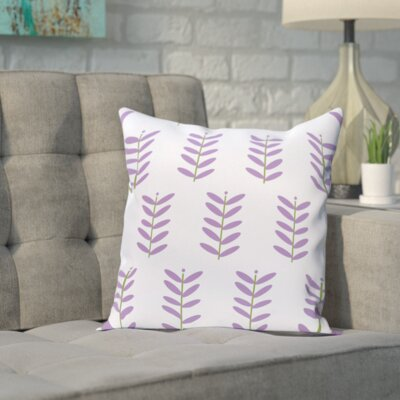 Sharrow Throw Pillow Size: 18 H x 18 W, Color: Blue / Purple