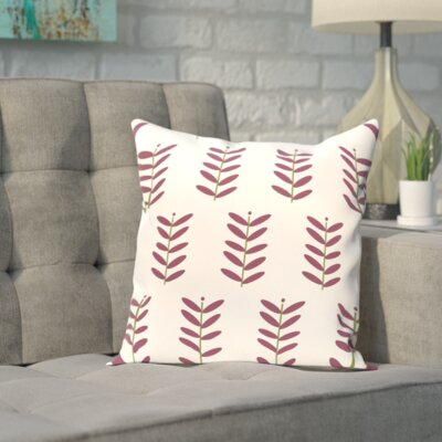 Sharrow Throw Pillow Size: 16 H x 16 W, Color: Ivory / Purple