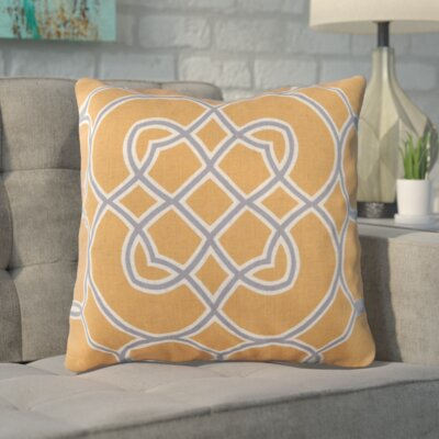 Kupfer Throw Pillow Size: 18 H x 18 W x 4 D, Color: Citrine, Filler: Down