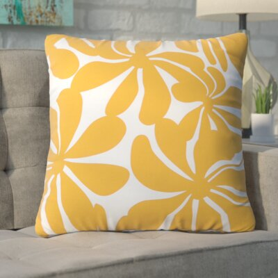 Monterey  Throw Pillow Color: Yellow