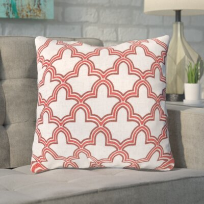 Maxwell Dazzling Decorative Throw Pillow Size: 18 H x 18 W, Color: Coral/Cinnamon Spice/Peach Cream, Filler: Polyester