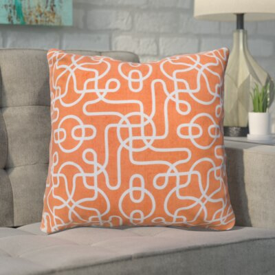 Peterson Reversible 100% Cotton Throw Pillow Color: Orange