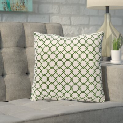 Bunnell Geometric Throw Pillow Size: 16 H x 16 W, Color: Off-White / Evergreen
