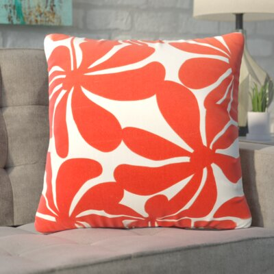 Monterey  Throw Pillow Color: Red