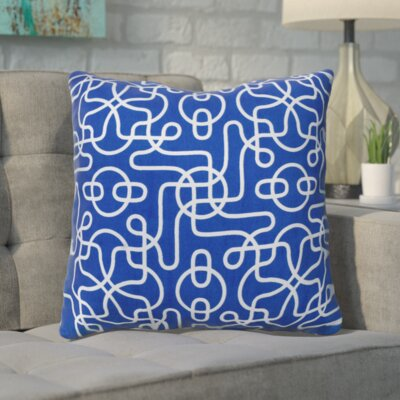 Pekanbaru Reversible 100% Cotton Throw Pillow Color: Blue
