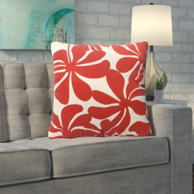 Egerton Indoor/Outdoor Throw Pillow Fabric: Red