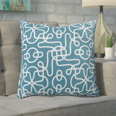 Peterson Reversible 100% Cotton Throw Pillow Color: Teal