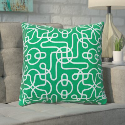 Peterson Reversible Cotton Throw Pillow Color: Green