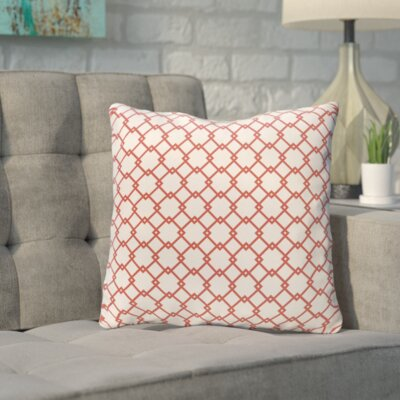 Bunnell Geometric Throw Pillow Size: 18 H x 18 W, Color: Off-White / Bulb