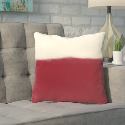 Bunnell Throw Pillow Size: 18 H x 18 W, Color: Cranberry
