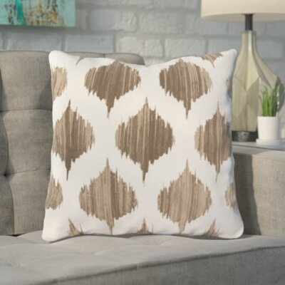 Cline 100% Cotton Throw Pillow Size: 18 H x 18 W x 4 D, Color: Brown, Filler: Down
