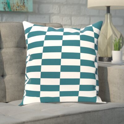 Segal Throw Pillow Color: Teal, Size: 26 H x 26 W