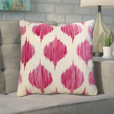 Deandrea 100% Cotton Throw Pillow Size: 18 H x 18 W x 4 D, Color: Bright Pink, Filler: Polyester