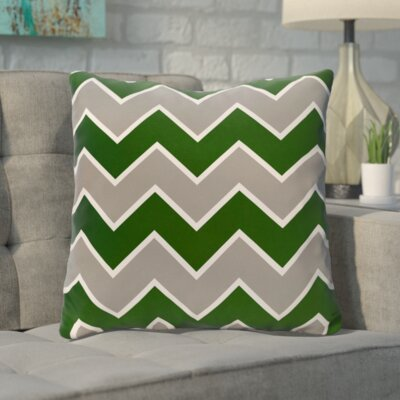 Bunnell Geometric Throw Pillow Size: 16 H x 16 W, Color: Evergreen / Silver