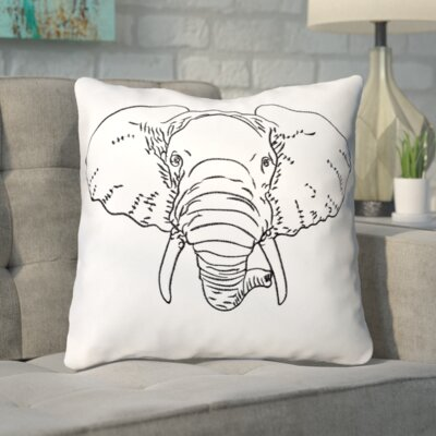 Kusinet Cotton Elephant Decorative Throw Pillow