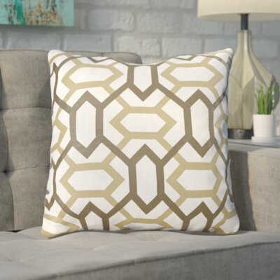 Appling the Diamonds Throw Pillow Size: 18 H x 18 W x 4 D, Color: Dark Chocolate / Dark Beige / Icicle, Filler: Down