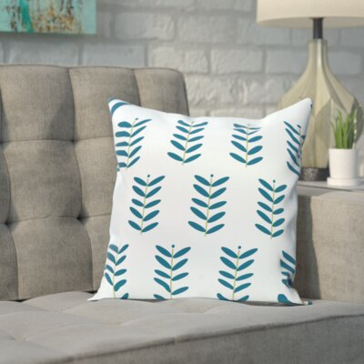 Sharrow Throw Pillow Size: 18 H x 18 W, Color: Light Blue / Teal
