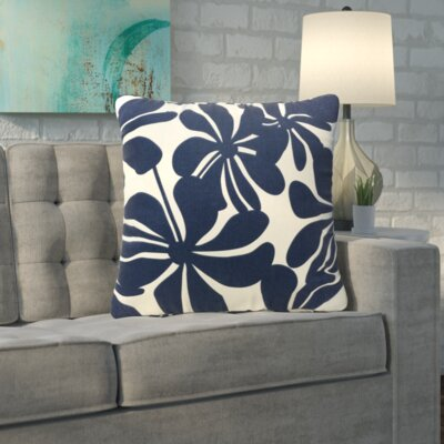 Monterey Indoor/Outdoor Throw Pillow Fabric: Navy Blue