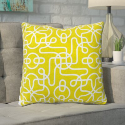 Pekanbaru Reversible 100% Cotton Throw Pillow Color: Yellow
