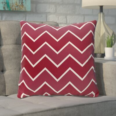 Bunnell Geometric Throw Pillow Color: Cranberry / Mulled Wine, Size: 16 H x 16 W