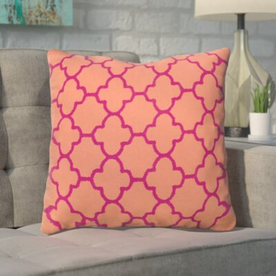 Arbogast 100% Cotton Throw Pillow Color: Orange