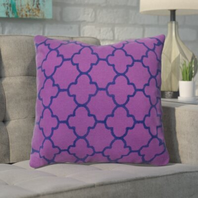 Arbogast 100% Cotton Throw Pillow Color: Purple