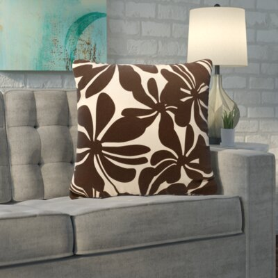 Egerton Indoor/Outdoor Throw Pillow Fabric: Chocolate