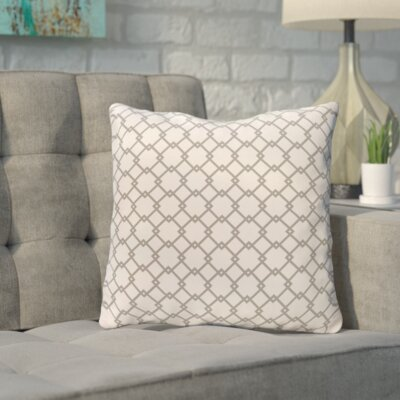 Bunnell Geometric Throw Pillow Size: 18 H x 18 W, Color: Off-White / Silver