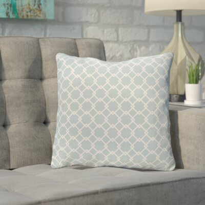 Bunnell Geometric Throw Pillow Size: 18 H x 18 W, Color: Off-White / Icicle