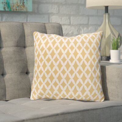 Bunnell Geometric Throw Pillow Size: 16 H x 16 W, Color: Mistletoe / White