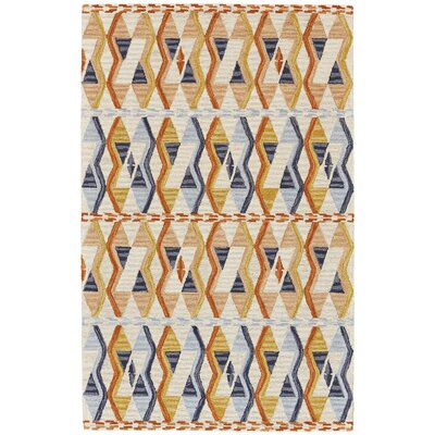 Willowick Hand-Tufted Orange/Blue Area Rug Rug Size: Rectangle 36 x 56
