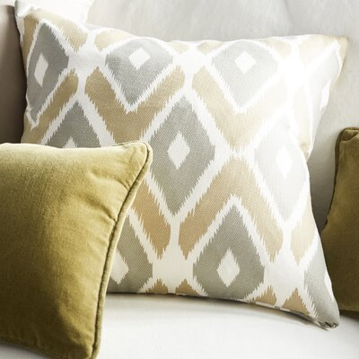 Boyer Diamond Printed Square Throw Pillow Color: Taupe