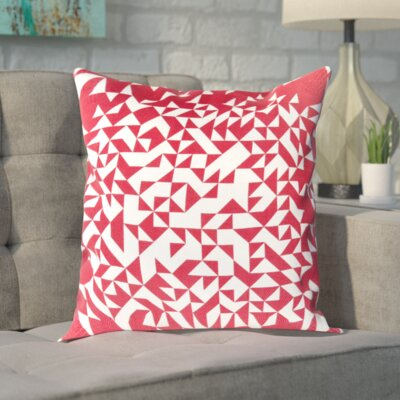 Sersic 100% Cotton Throw Pillow Cover Size: 22 H x 22 W x 0.25 D, Color: PinkNeutral