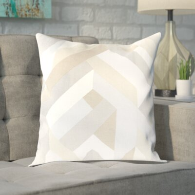 Sersic 100% Cotton Pillow Cover Size: 18 H x 18 W x 0.25 D, Color: Neutral