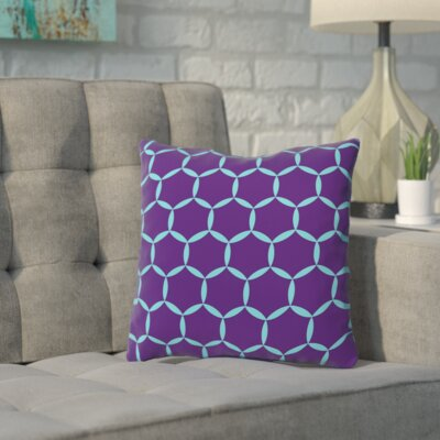 Shackelford Galaxy Throw Pillow Size: 18 H x 18 W x 2 D