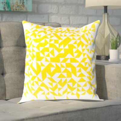 Sersic 100% Cotton Throw Pillow Cover Size: 18 H x 18 W x 0.25 D, Color: YellowNeutral